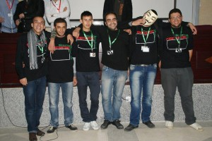 L'équipe gagnant de la StarUpWeekEnd du DZwebDays à Constantine (Algérie) le 8 décembre 2012