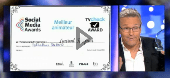 LAURENT RUQUIER RÉCOMPENSÉ AU TVCHECK AWARDS 2013