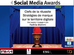 Strategie de marque digitale Social Media Awards 2013
